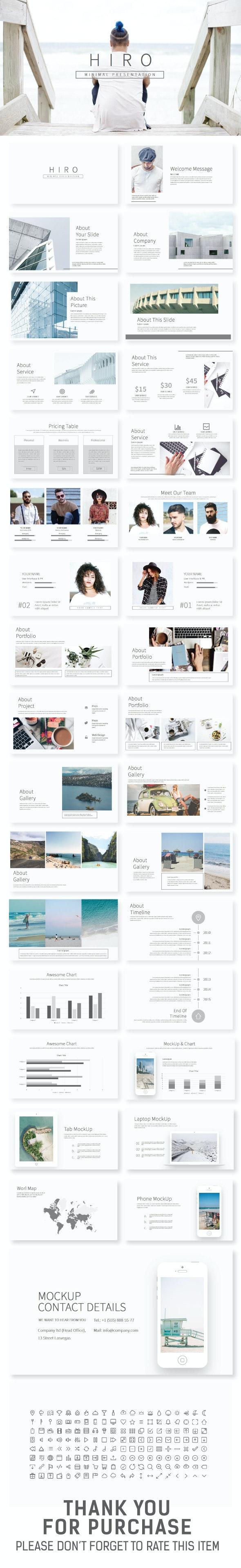 HIRO Minimal Presentation - Creative PowerPoint Templates