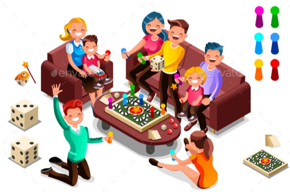 Adults Leisure Board Games - People Characters