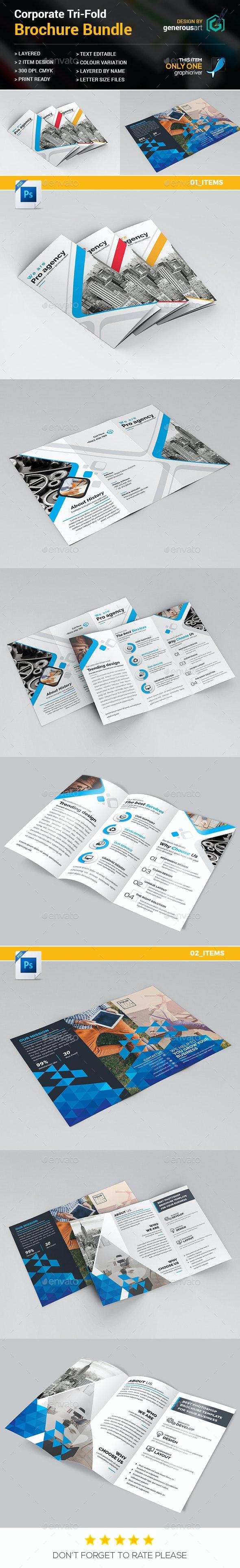 Tri-fold Bundle_2 in 1 - Brochures Print Templates