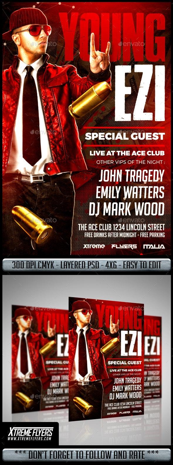 Hip Hop Artist Flyer - Clubs & Parties Events