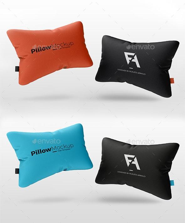 Realistic 3D Pillow Mock-Up - Product Mock-Ups Graphics