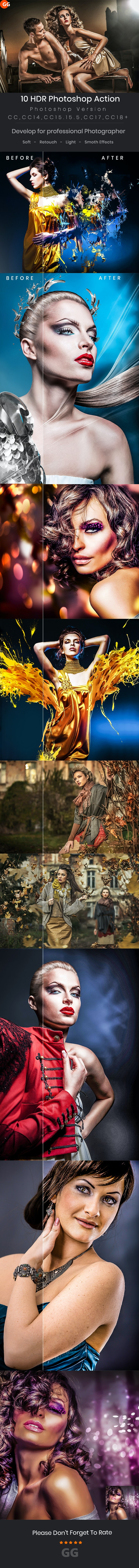 10 HDR Photoshop Action - Photo Effects Actions