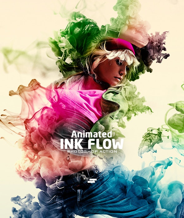 Gif Animated Ink Flow Photoshop Action - Photo Effects Actions