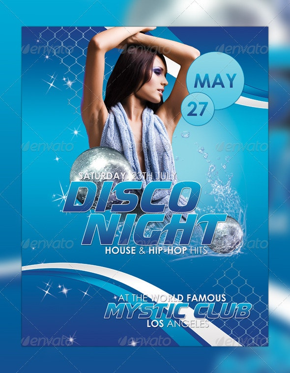 Dance Night Flyer Template - Clubs & Parties Events