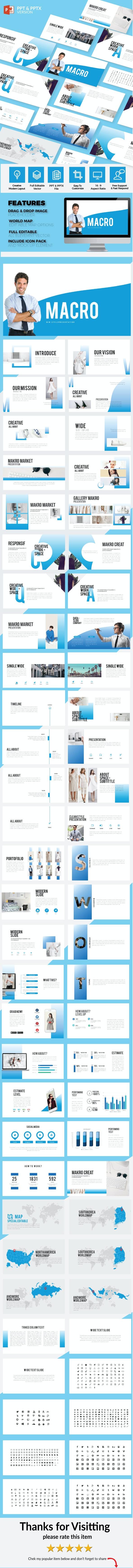 Macro - Multipurpose Presentation Template - Creative PowerPoint Templates