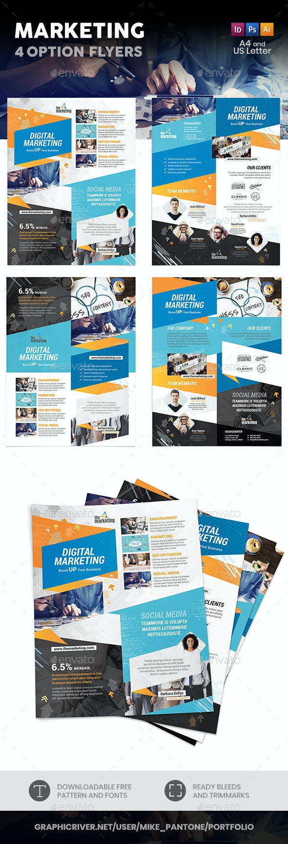 Marketing Flyers – 4 Options - Corporate Flyers