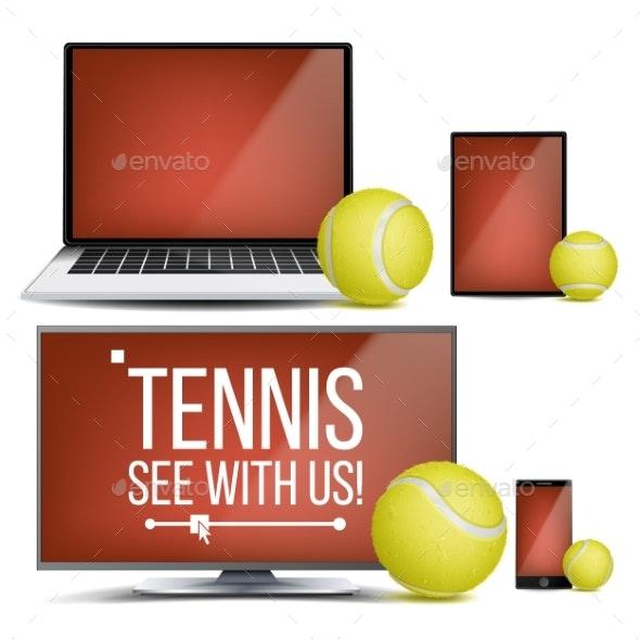 Tennis Application Vector - Sports/Activity Conceptual