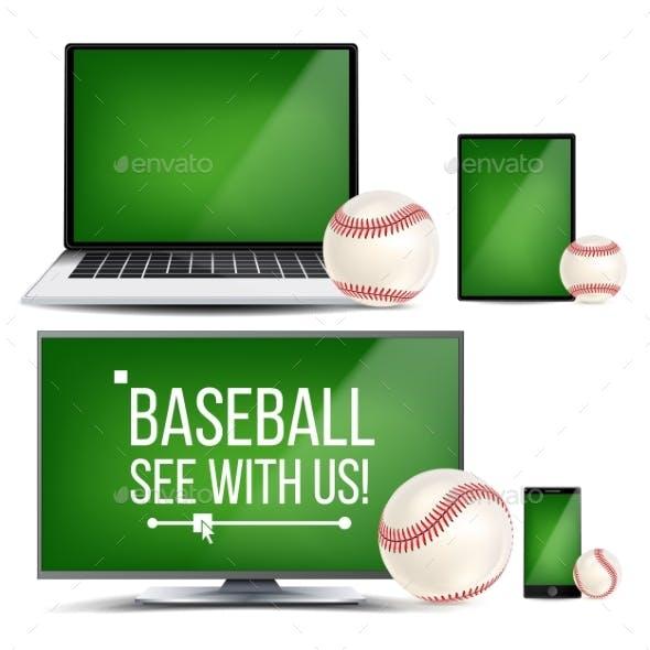 Baseball Application Vector