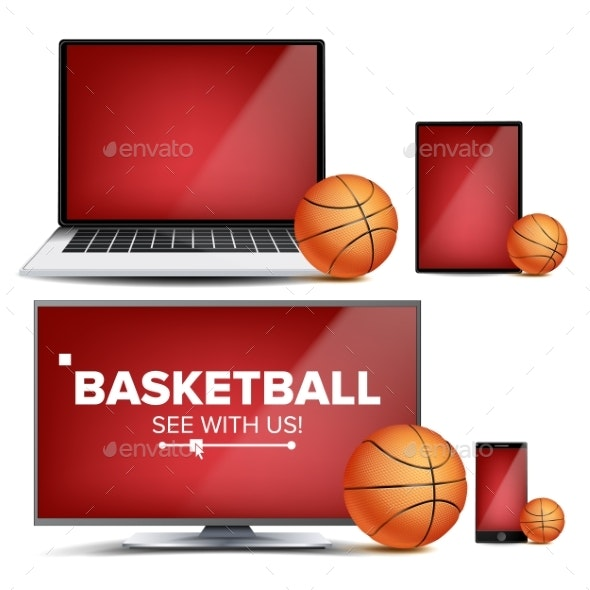 Basketball Application Vector - Sports/Activity Conceptual