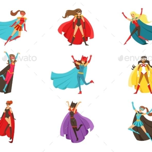 Female Superheroes In Classic Comics Costumes