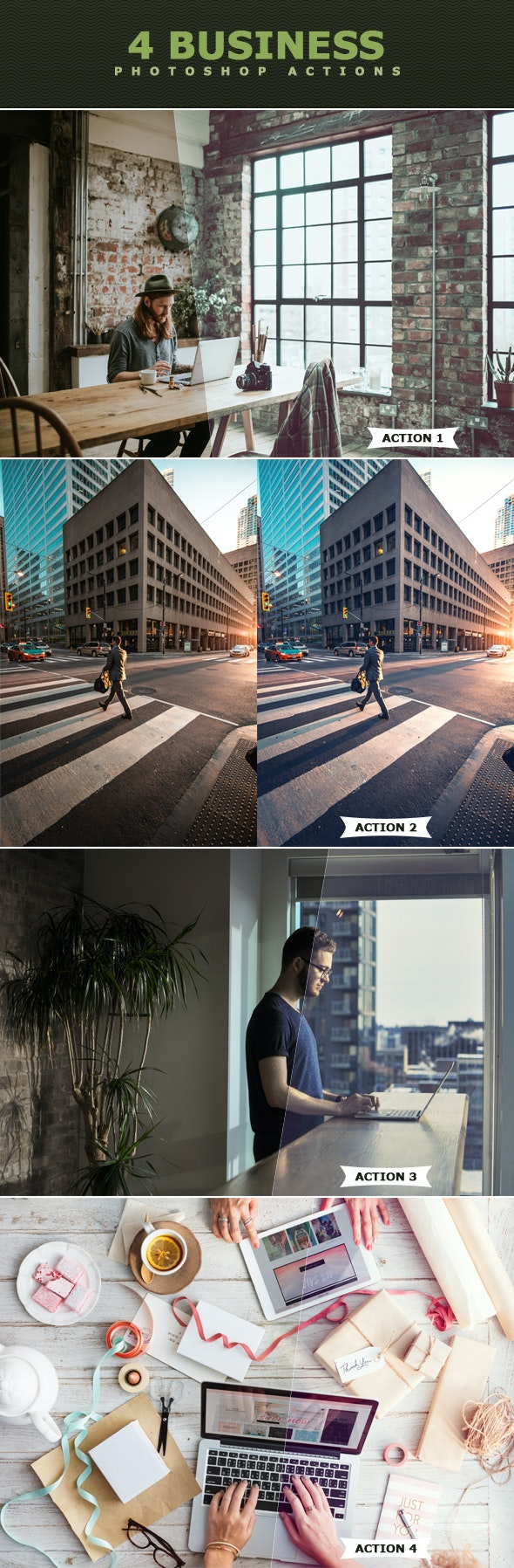 Business Photoshop Actions - Photo Effects Actions