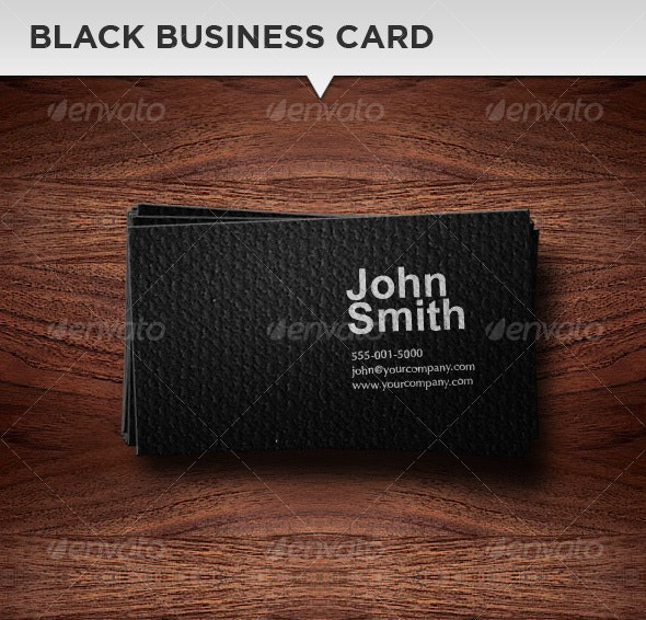 Black Business Card Template - Corporate Business Cards