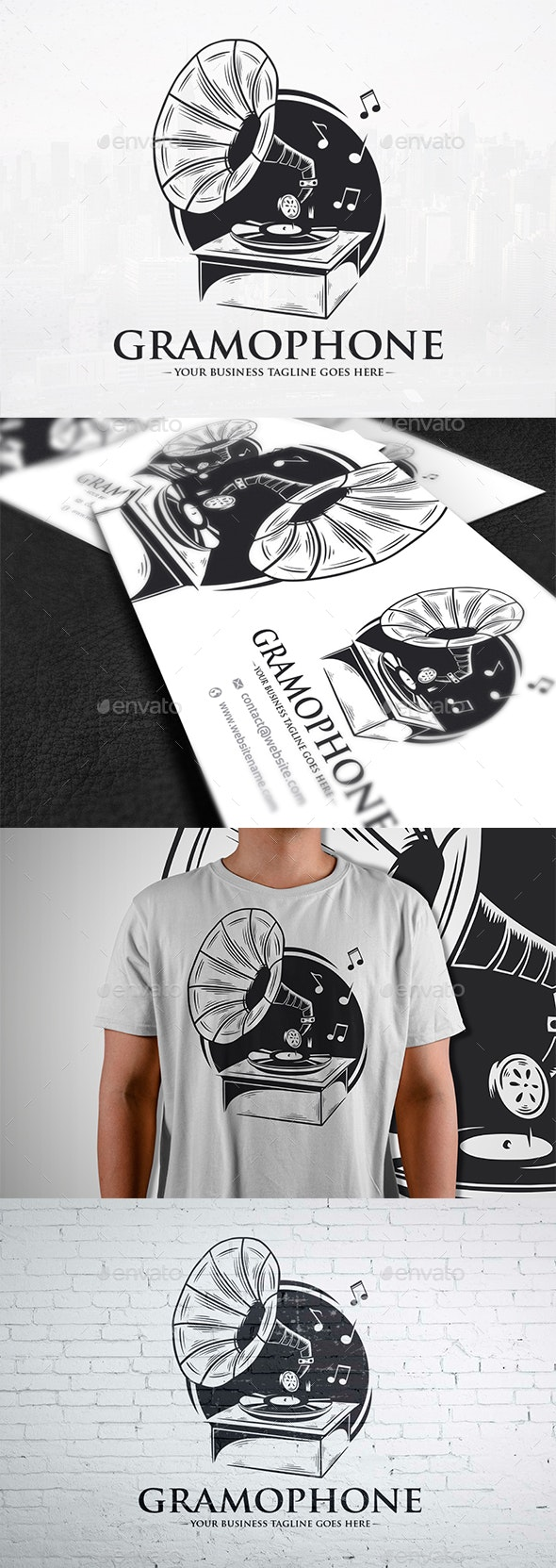 Old Gramophone Logo Template - Objects Logo Templates