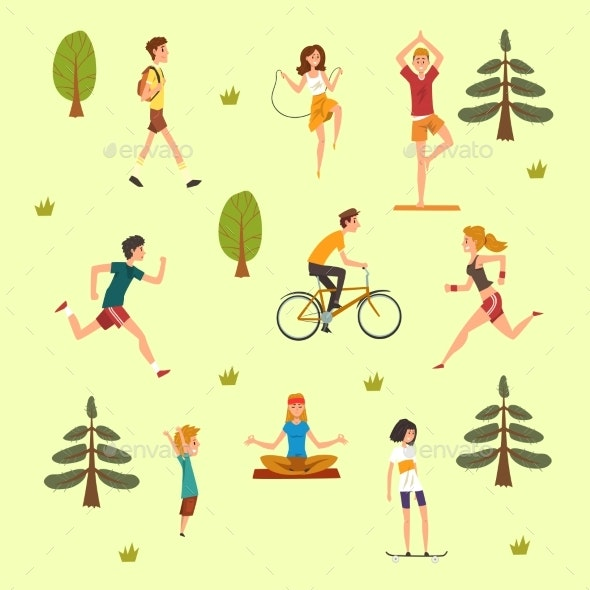 People Doing Physical Activity Outdoors - Sports/Activity Conceptual