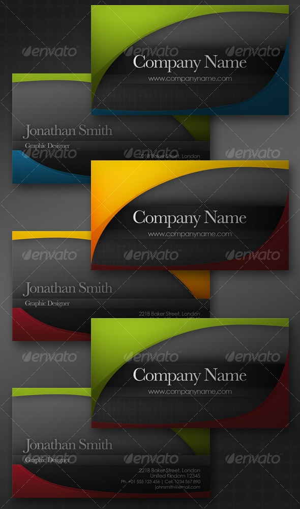 Simple Two Color Business Card - Corporate Business Cards
