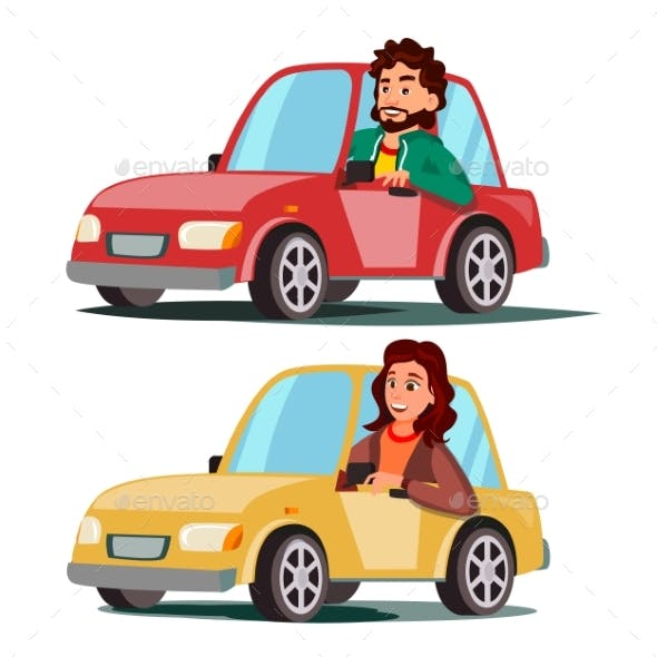 Driver People Vector