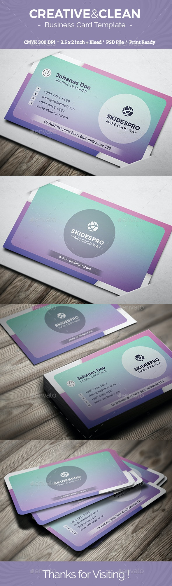 Creative & Clean - Creative Business Cards