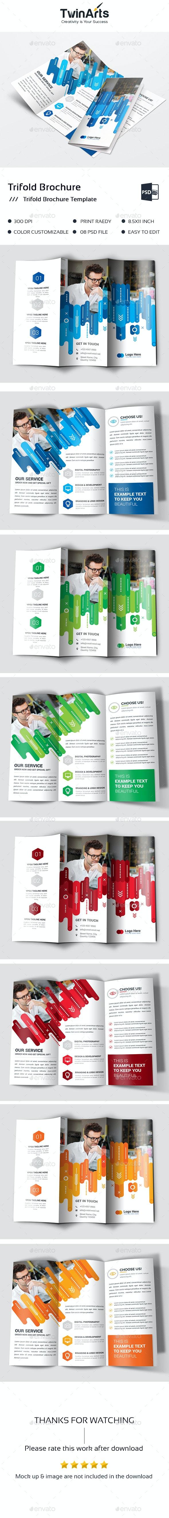 Trifold Brochure. - Brochures Print Templates