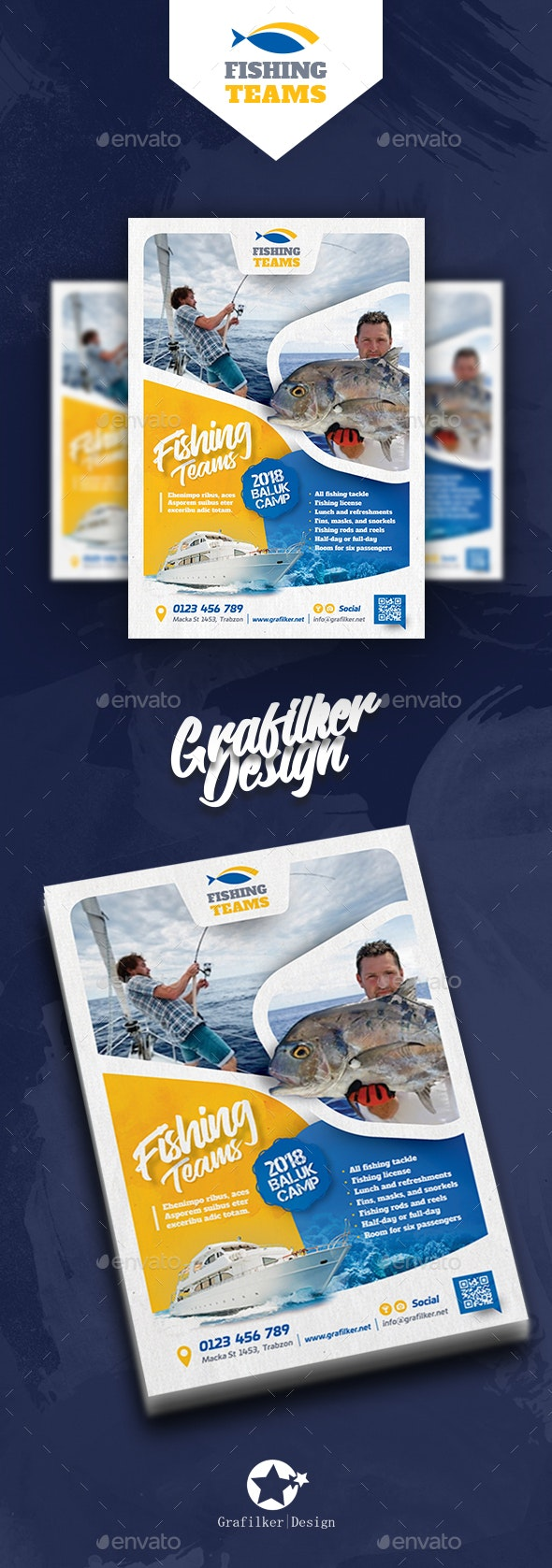 Fishing Tour Flyer Templates - Corporate Flyers