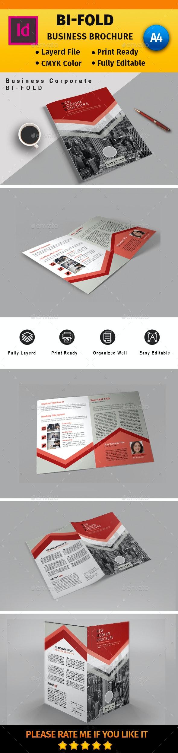 A4  Corporate Business Bi-Fold #16 - Corporate Brochures