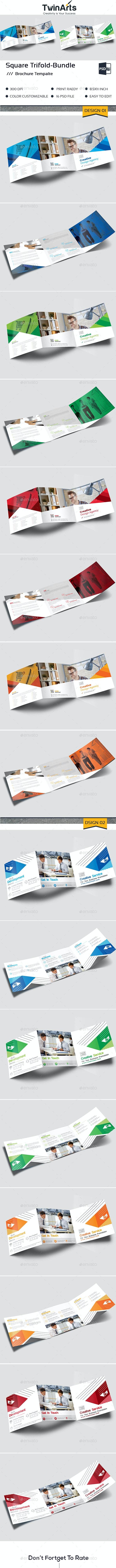Square Trifold Bundle - Brochures Print Templates