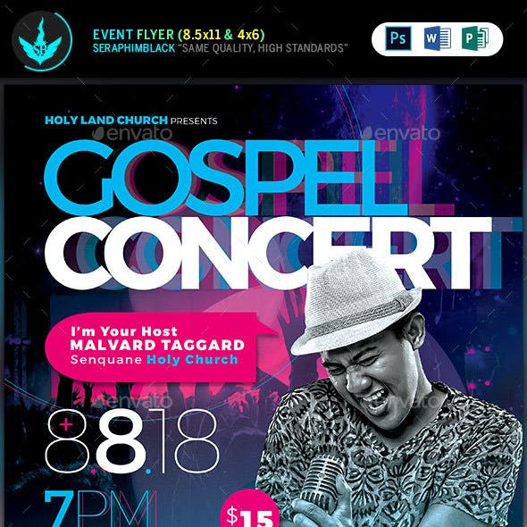 Cosmic Gospel Concert Flyer Template
