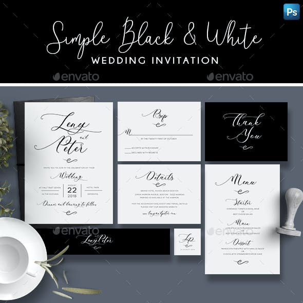 Simple Black & White Invitation
