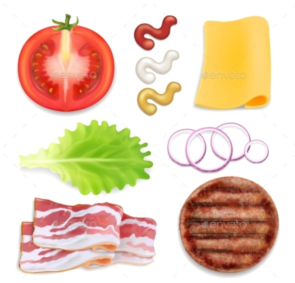 Burger Ingredients - Food Objects