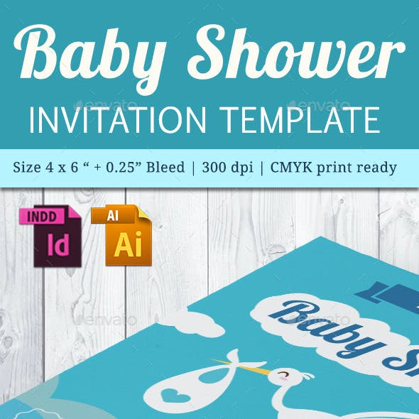 Baby Shower Template - Vol. 20