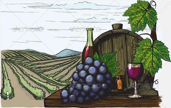 Landscape with views of vineyards - Landscapes Nature