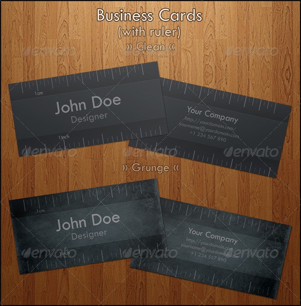 Business Card with Ruler - Creative Business Cards