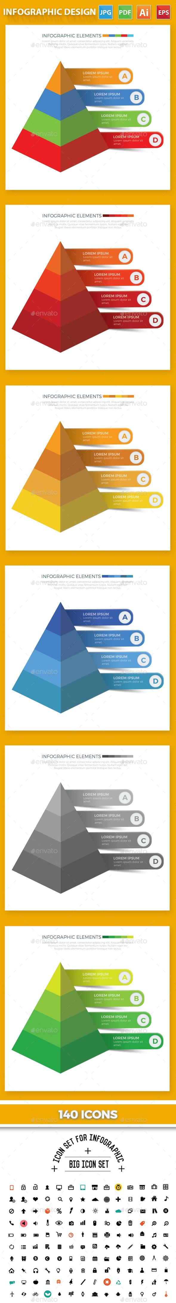 Pyramid Infographic Design - Infographics