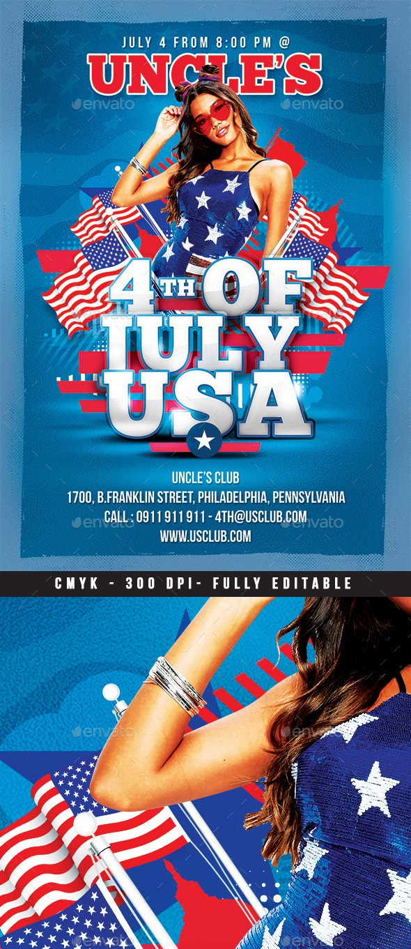 Usa 4th Of July - Events Flyers