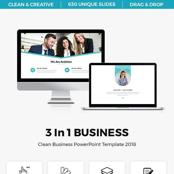 Bundle 3 In 1 Business Marketing PowerPoint Template