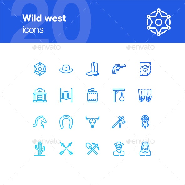 20 Wild West Icons - Miscellaneous Icons