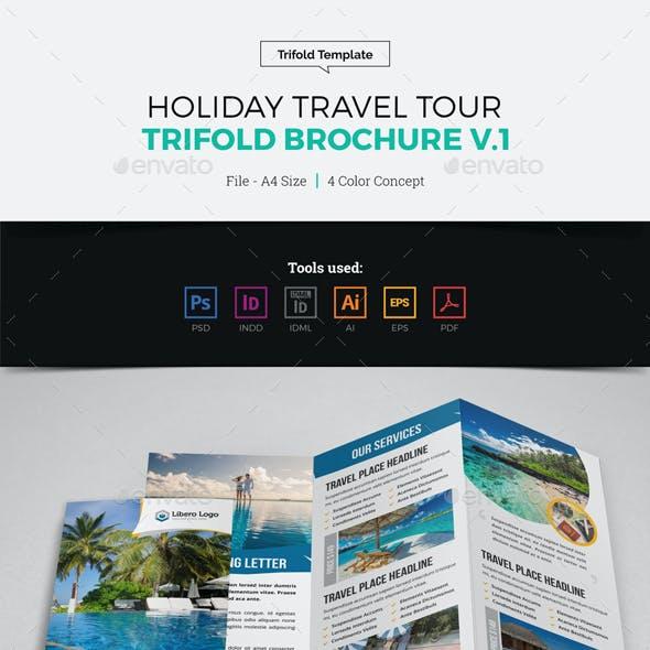 Holiday Travel Trifold Brochure Design v1