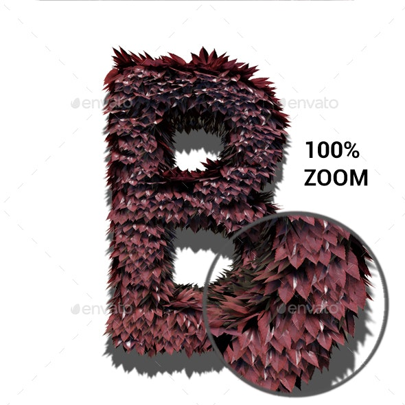 Foliage Letters - Text 3D Renders