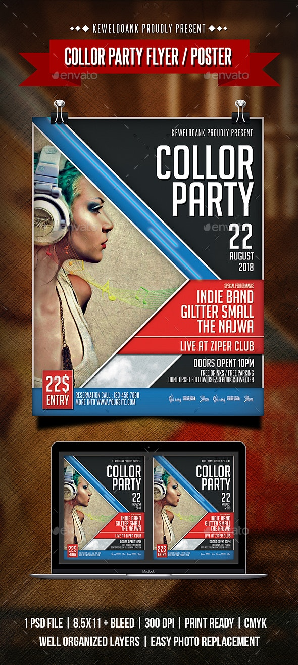 Collor Party Flyer / Poster - Clubs & Parties Events