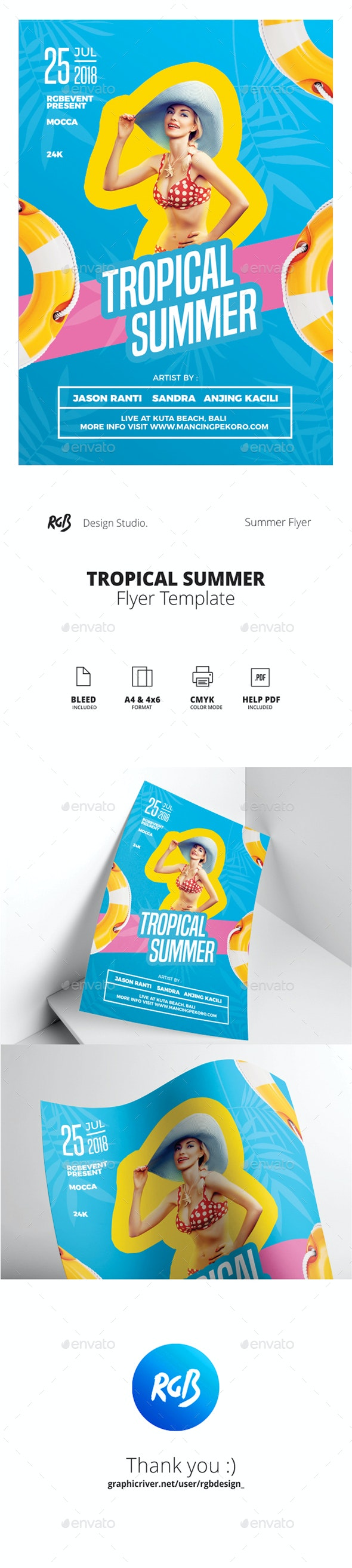 Tropical Summer Flyer / Poster - Clubs & Parties Events