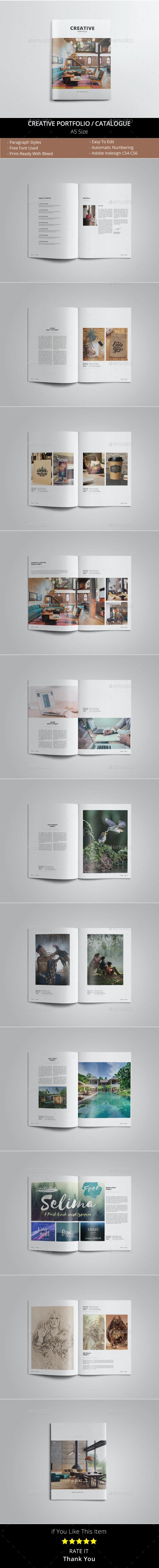 A5 Creative Portfolio / Catalogue Template - Portfolio Brochures