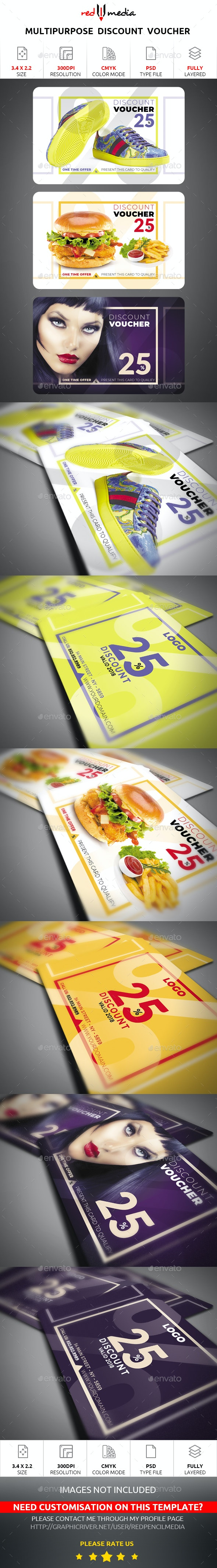 Multipurpose Discount Voucher - Loyalty Cards Cards & Invites