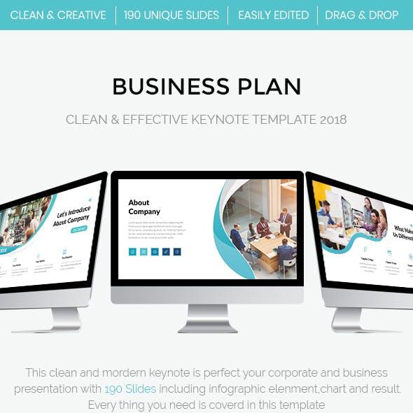 Business Plan - Clean & Effective Keynote Template 2018