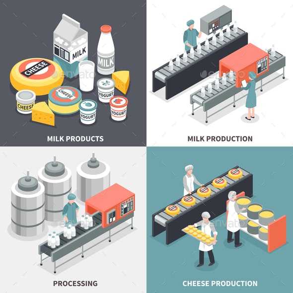 Milk Factory 2x2 Design Concept - Food Objects