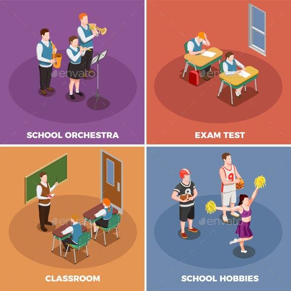 School Life Design Concept - Business Conceptual