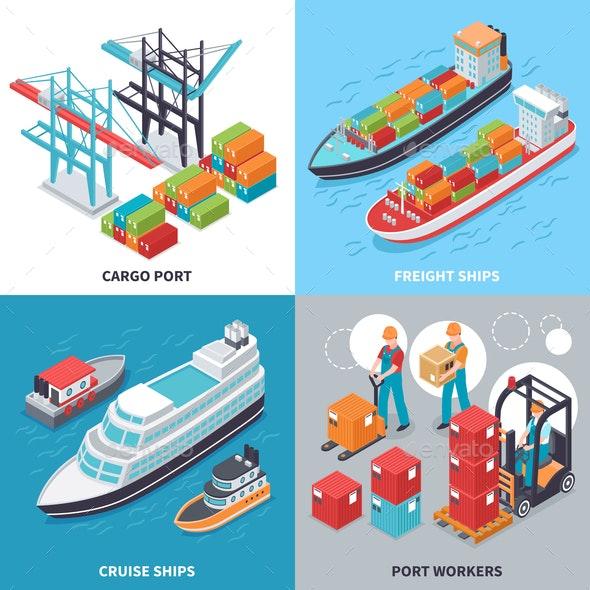 Sea Port 2x2 Design Concept - Industries Business