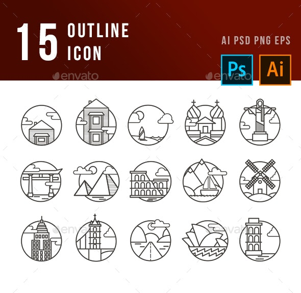 Traveling Icons - Web Icons