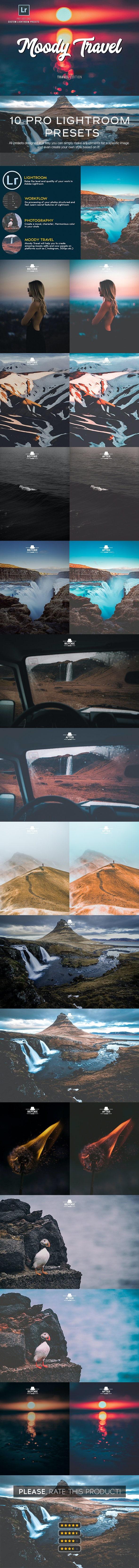 Moody Travel Lightroom Presets - Landscape Lightroom Presets