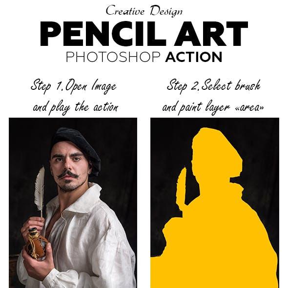 Pencil Art Photoshop Action