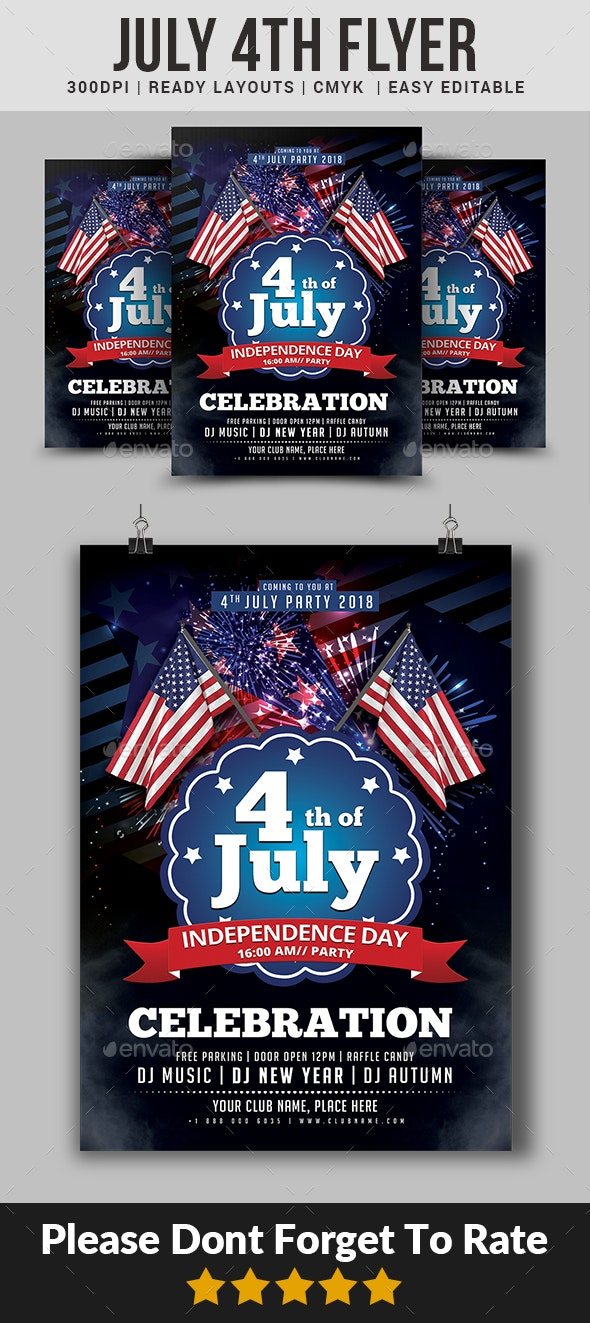 July 4th Flyer - Events Flyers