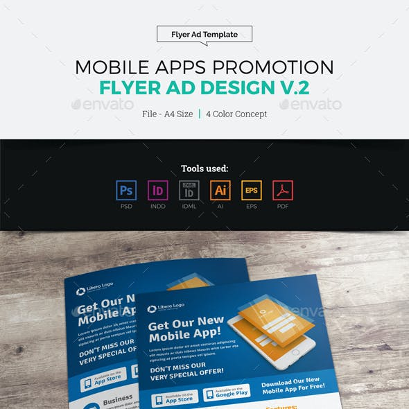 Mobile Apps Promotion Flyer Ad Design v2